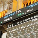 Ticker del parquet de la Bolsa de Madrid