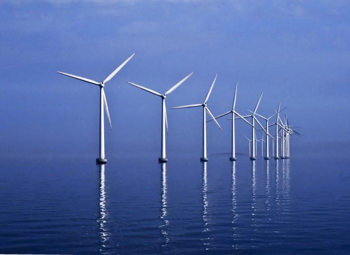 Generadores de energía eólica en el mar