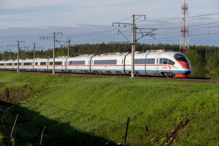 Modelo Sapsan de Russian Railways
