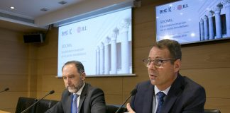 Enrique Losantos y Jorge Yzaguirre en la presentación del Eestudio