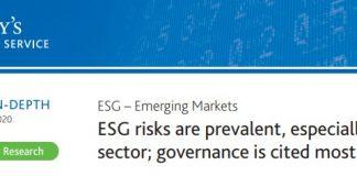 Moody´s refuerza ESG en sus ratings de paisews emergentes